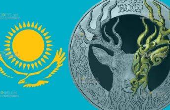 Казахстан монета 5000 тенге BUǴY