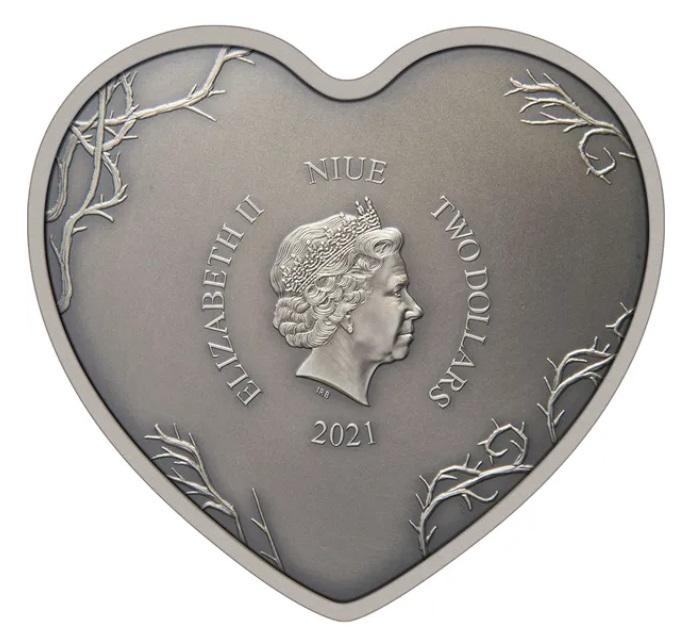 Ниуэ монета 2 доллара Кошмар перед Рождеством, аверс