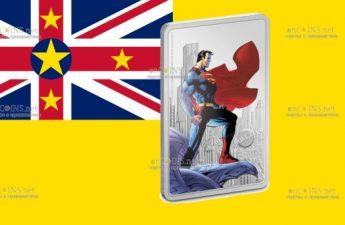 Ниуэ монета 2 доллара СуперМен