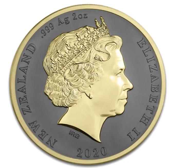 Нова Зеландия монета 2 доллара Киви, аверс