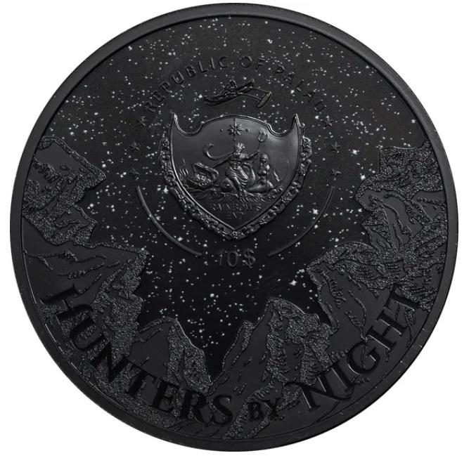 Палау монета 10 долларов Черная Пантера, аверс