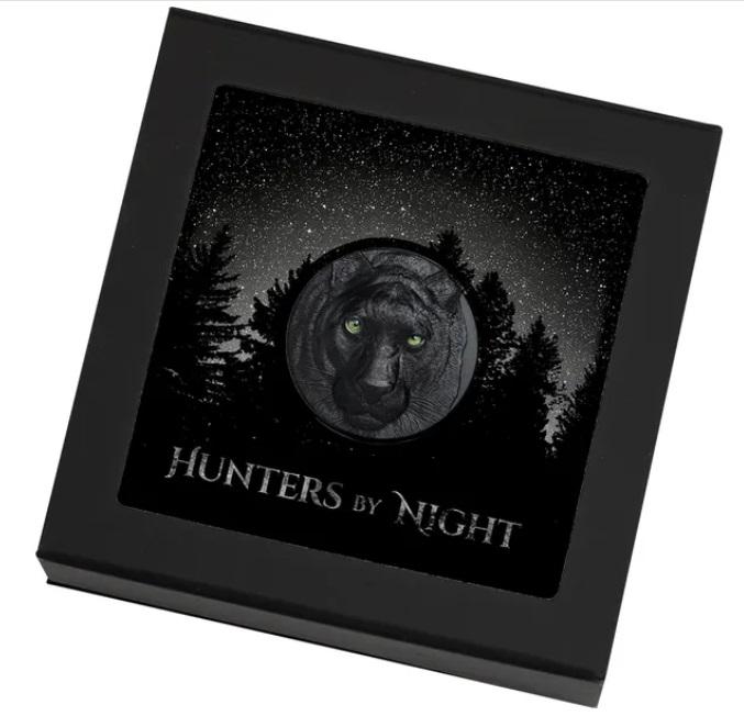 Палау монета 10 долларов Черная Пантера, подарочная упаковка