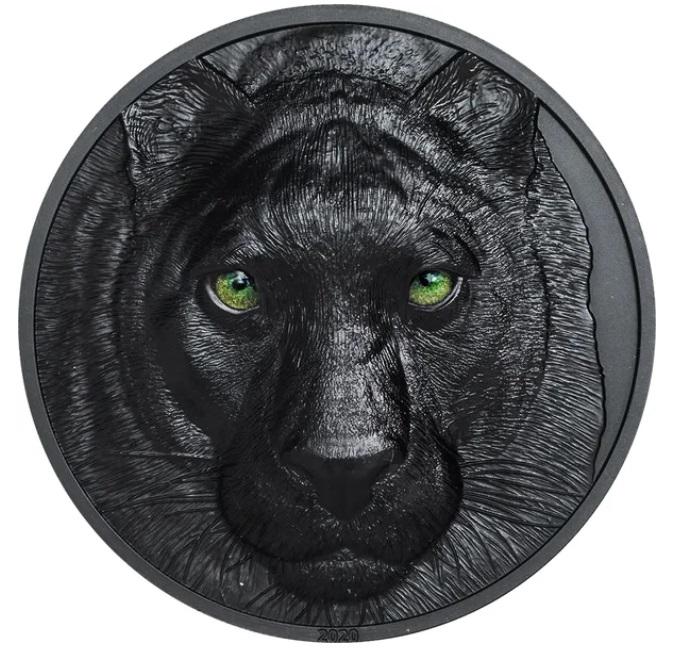 Палау монета 10 долларов Черная Пантера, реверс