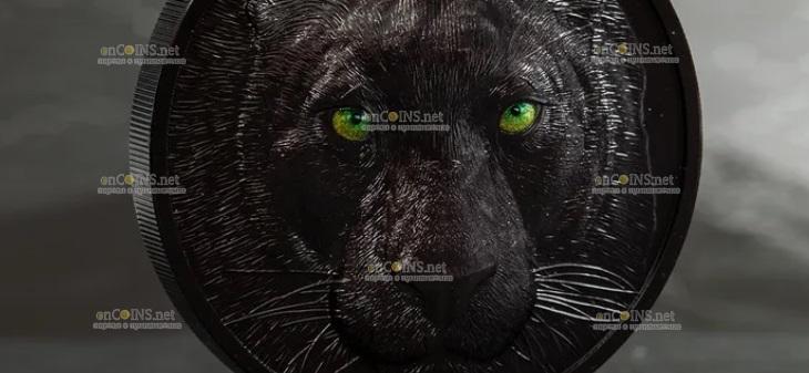 Палау монета 10 долларов Черная Пантера