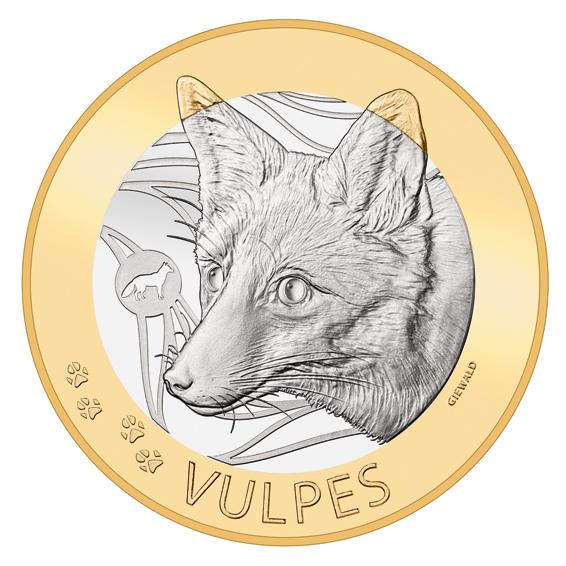 Швейцария монета 10 франков Лисица, реверс