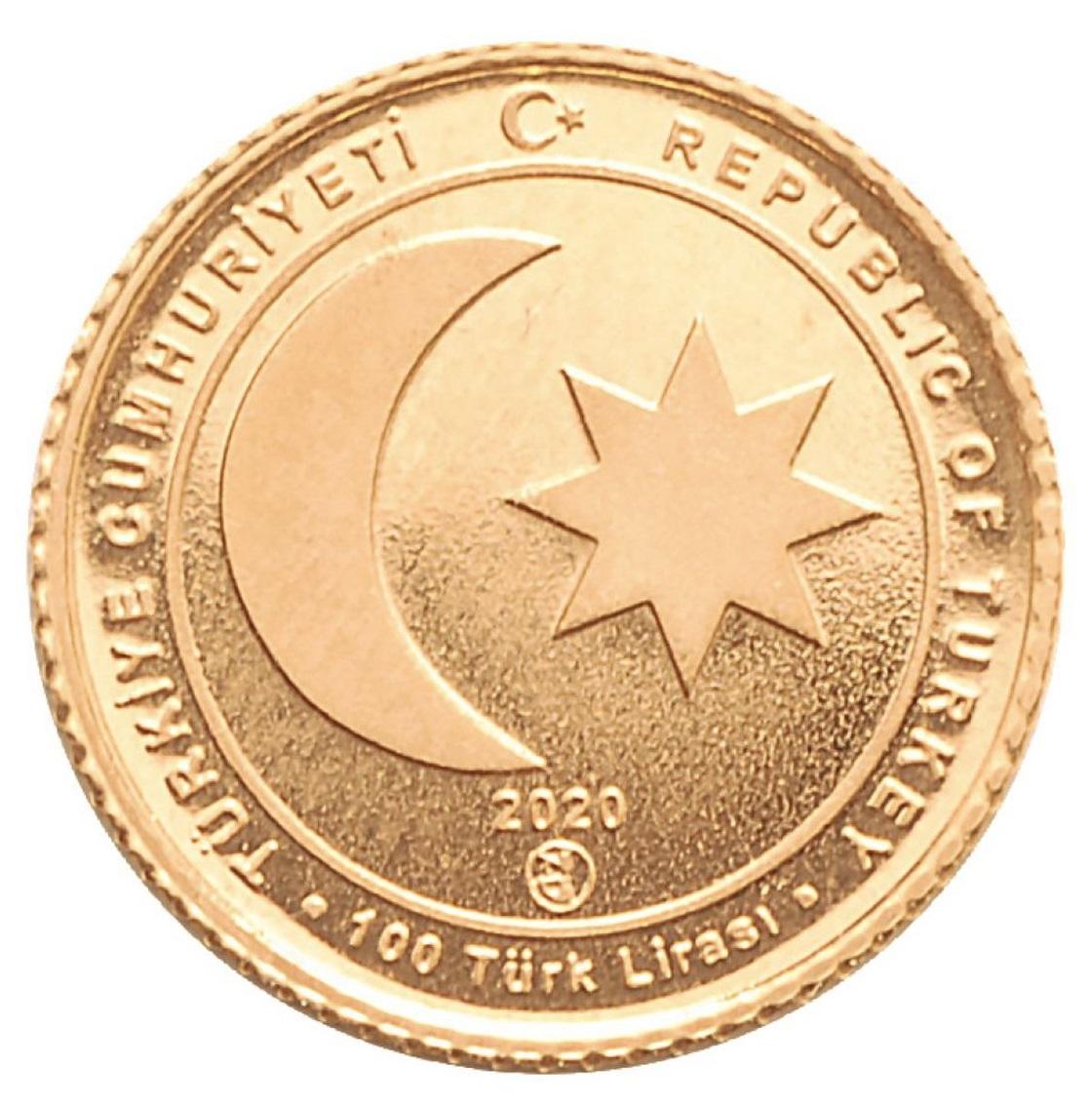 Турции монета 100 лир Османская Империя 1299-1922, аверс