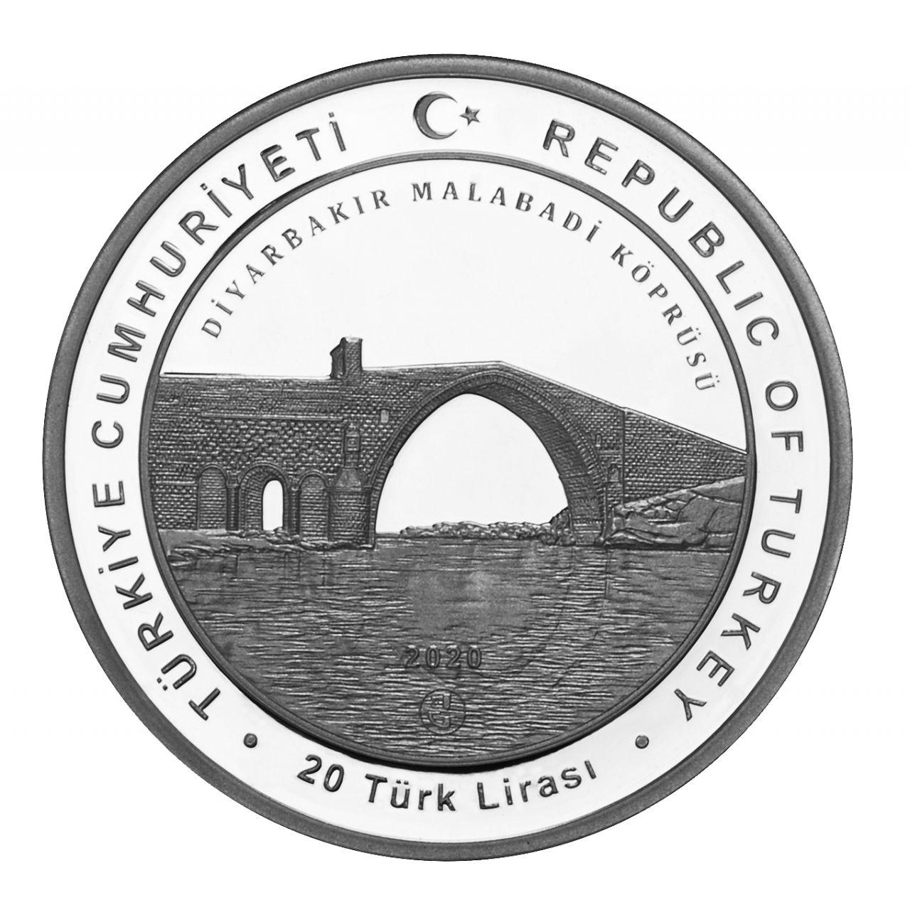 Турция монета 20 лир Артукиды, аверс