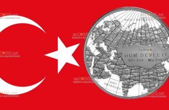 Турция монета 20 лир Государство гуннов