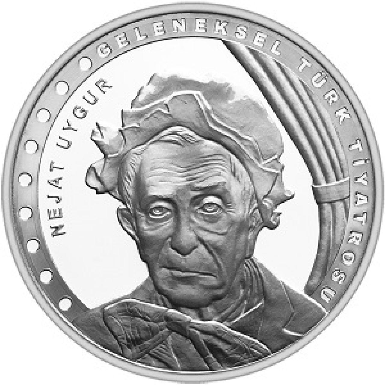 Турция монета 20 лир Неджат Уйгур, реверс