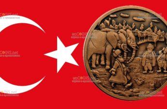 Турция монета 2,5 лиры Ходжа Насреддин