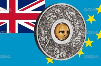 Тувалу 3-D монета 1 доллар Год Быка