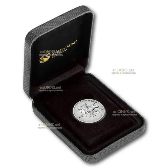Австралия монета 1 доллар Австралийский клинохвостый орел, подарочная упаковка