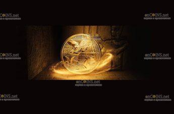 Австрии монета 10ф0 евро Маска Тутанхамона