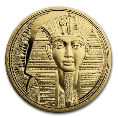 Австрии монета 100 евро Маска Тутанхамона, реверс