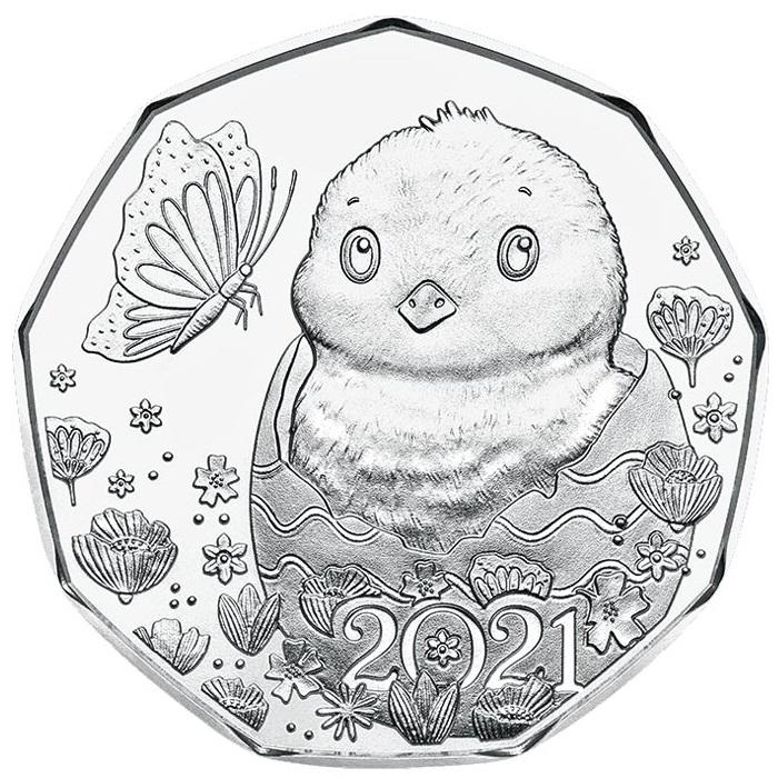 Австрия пасхальная монета 2021 год, реверс