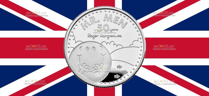 Британия монета 1 фунт Мистер Мен