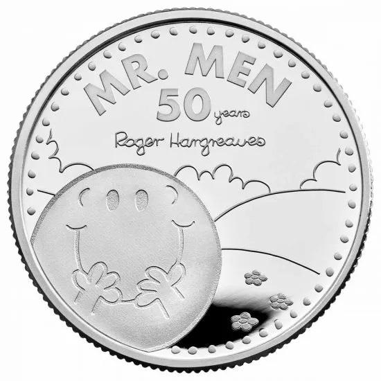 Британия монета 1 фунт Мистер Мен, реверс