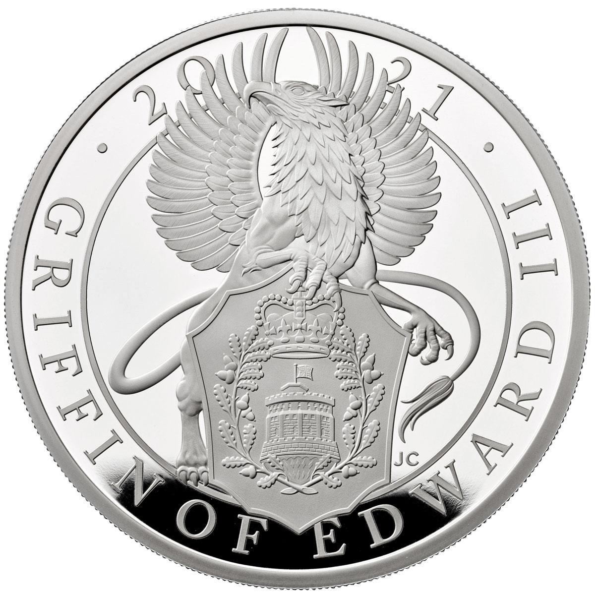 Британия монета 2 фунта Грифон, реверс