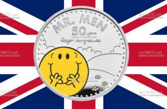 Британия монета 2 фунта Мистер Мен