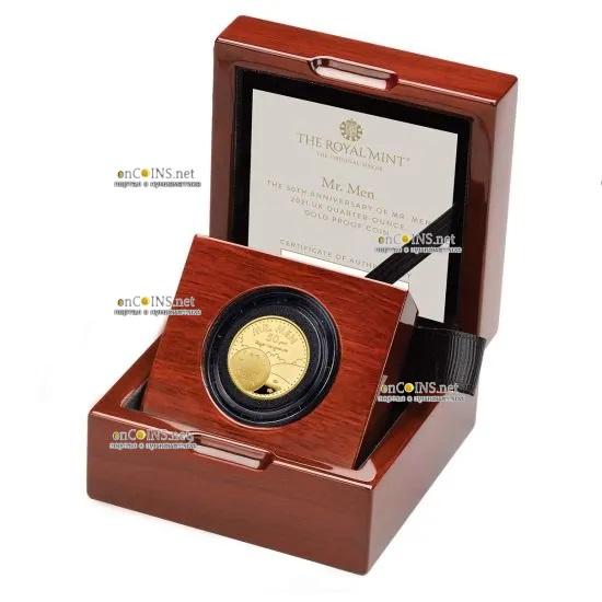 Британия монета 25 фунтов Мистер Мен, подарочная упаковка