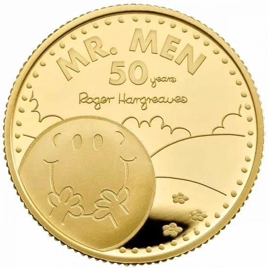 Британия монета 25 фунтов Мистер Мен, реверс