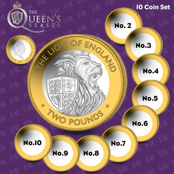 Британские территории в Индийском океане 1-я монета из 10-ти - Английский лев