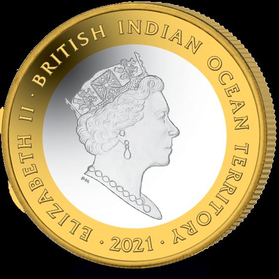 Британские территории в Индийском океане монета 2 фунта, 2021 год, аверс