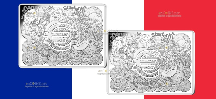 Франция монета 10 евро 20 лет стартовому набору