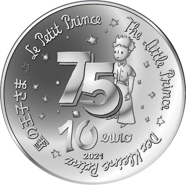 Франция монета 10 евро Маленький принц, аверс
