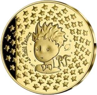 Франция монета 200 евро Маленький принц, реверс