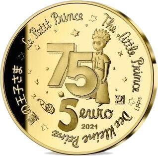 Франция монета 5 евро Маленький принц, аверс