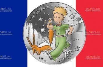 Франция монета 10 евро Маленький принц и лис