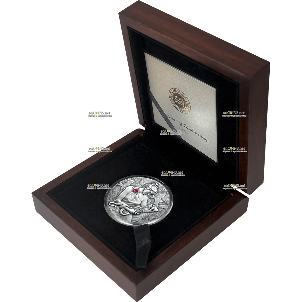 Гана монета 10 седи Гигиея, подарочная упаковка