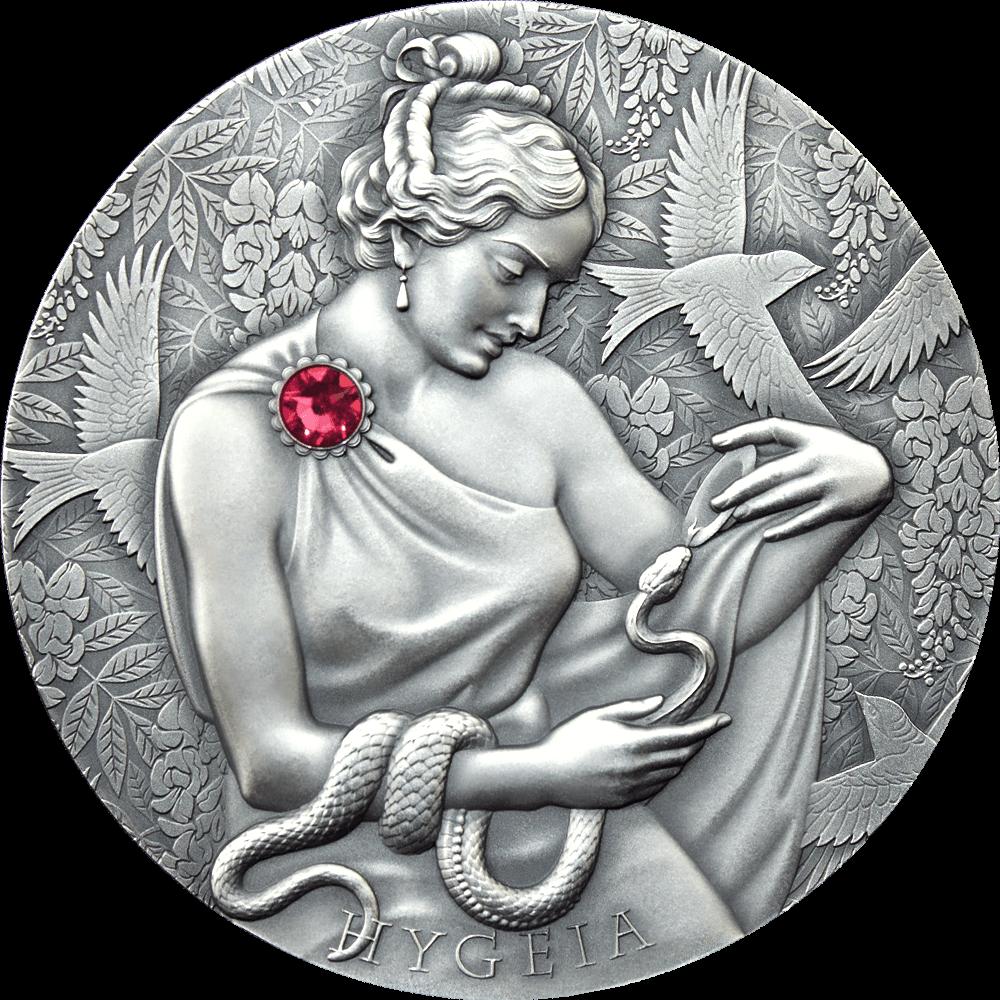 Гана монета 10 седи Гигиея, реверс