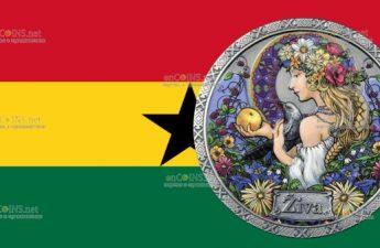 Гана монета 5 седи Жива