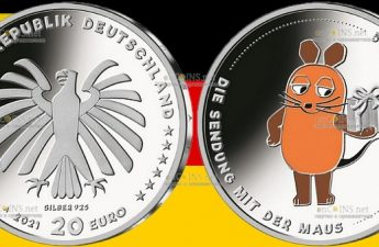 Германии монета Шоу Программа с мышкой