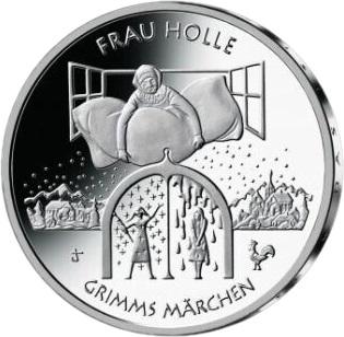 Германия монета 20 евро Госпожа Метелица, реверс