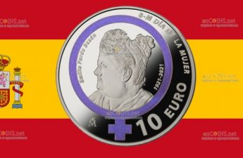 Испания монета 10 евро Дань памяти Эмилии Пардо Басан