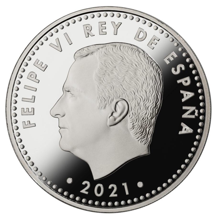 Испания монетау 10 евро 2021 год, аверс
