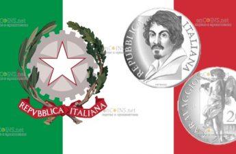 Италия монета 20 евро Микеланджело Меризи да Караваджо