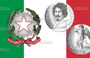 Италия монета 5 евро Микеланджело Меризи да Караваджо