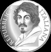Италия монета 5 евро Микеланджело Меризи да Караваджо, аверс