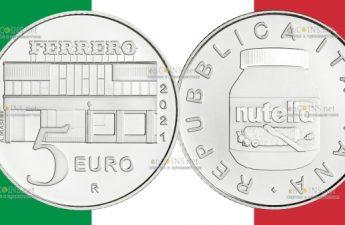 Италия монетау 5 евро Нутелла