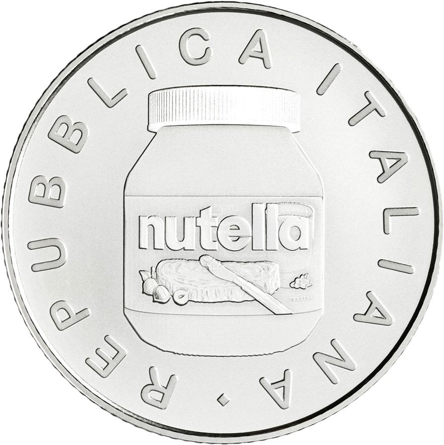 Италия монетау 5 евро Нутелла, аверс