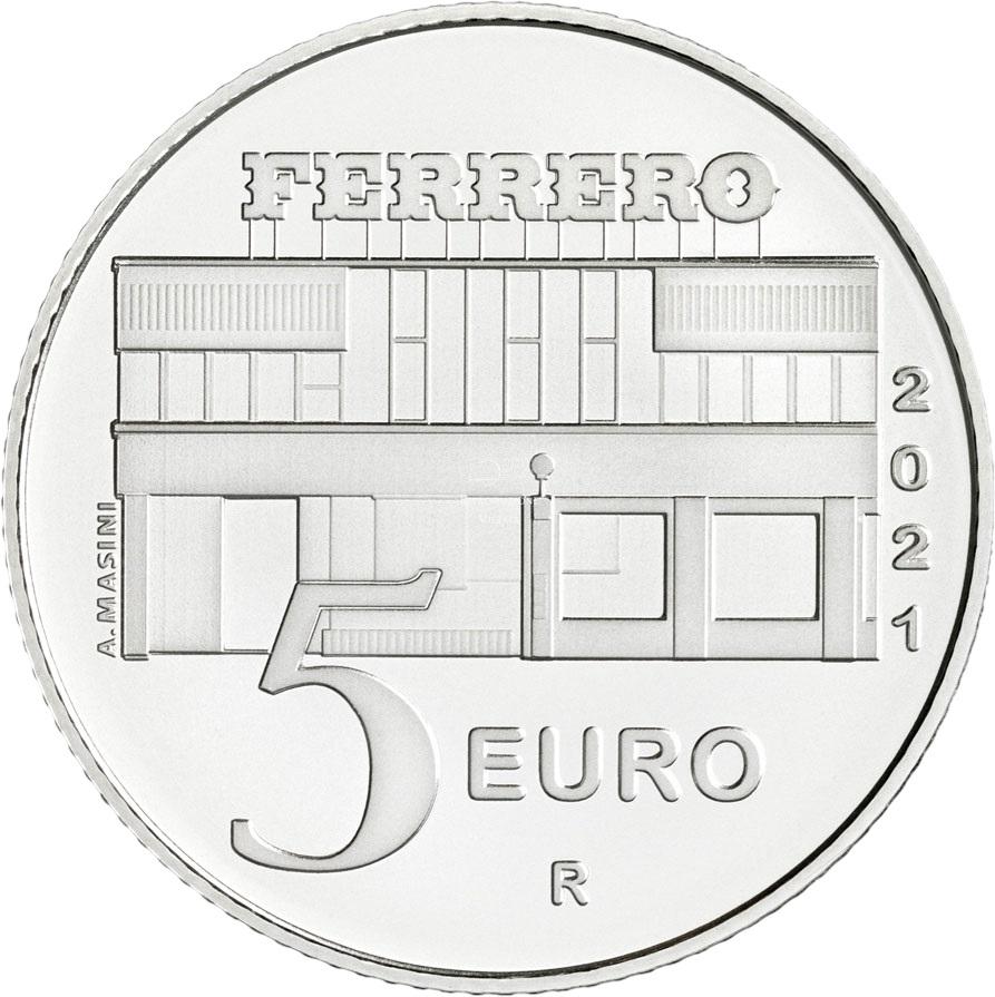 Италия монетау 5 евро Нутелла, реверс