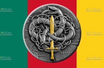 Камерун монета 2000 франков КФА Александр и гордиев узел