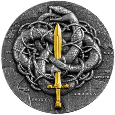 Камерун монета 2000 франков КФА Александр и гордиев узел, реверс