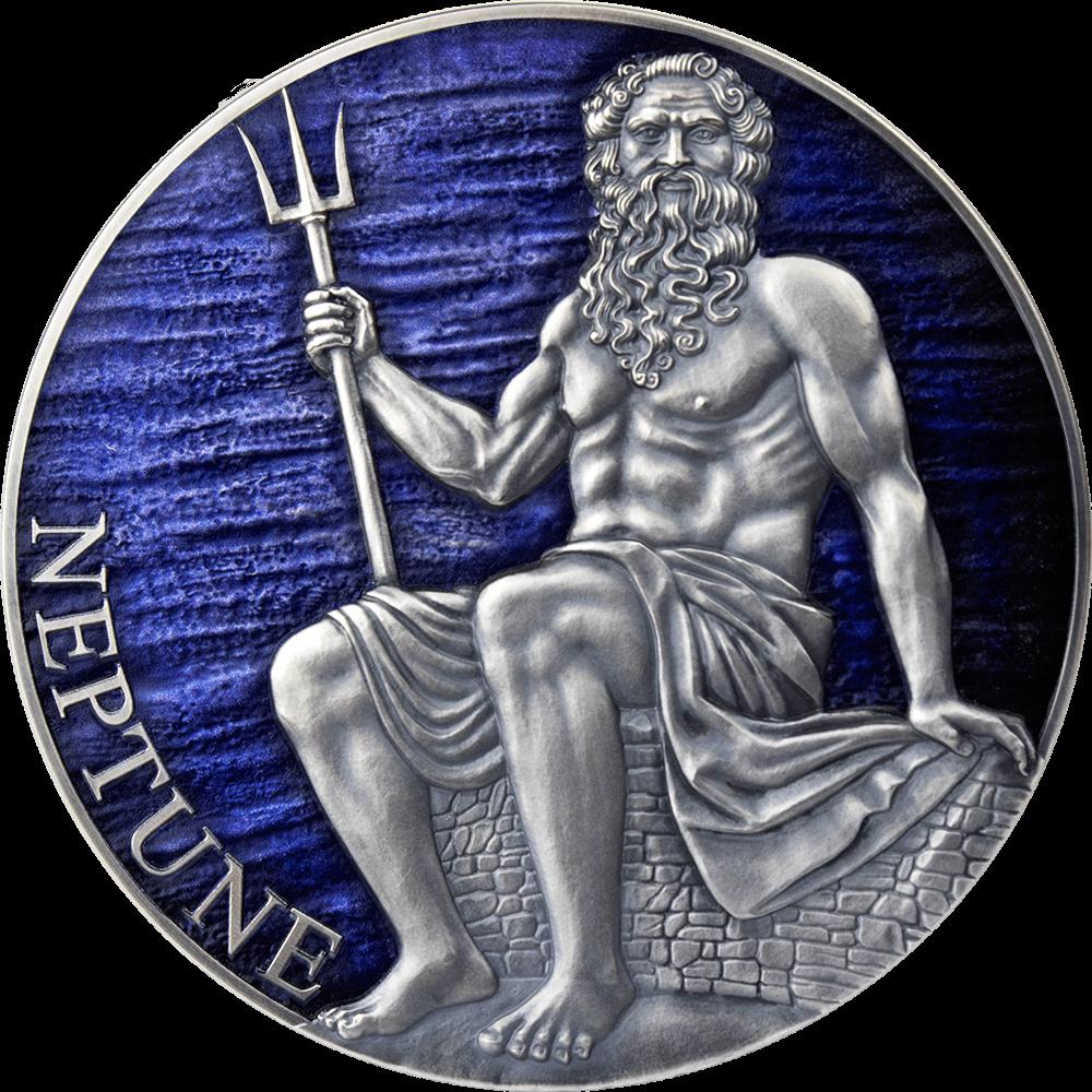 Камерун монета 3000 франков Нептун, реверс