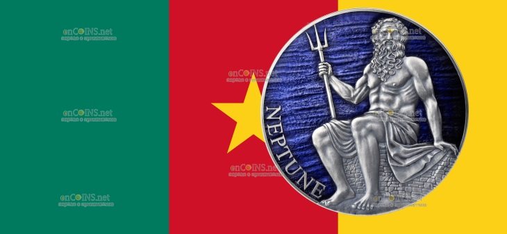 Камерун монета 3000 франков Нептун