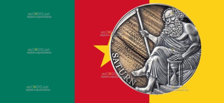 Камерун монета 3000 франков Сатурн